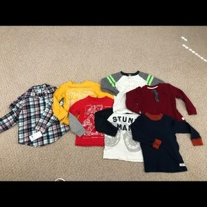 Bundle of 7 long sleeve Carters shirts